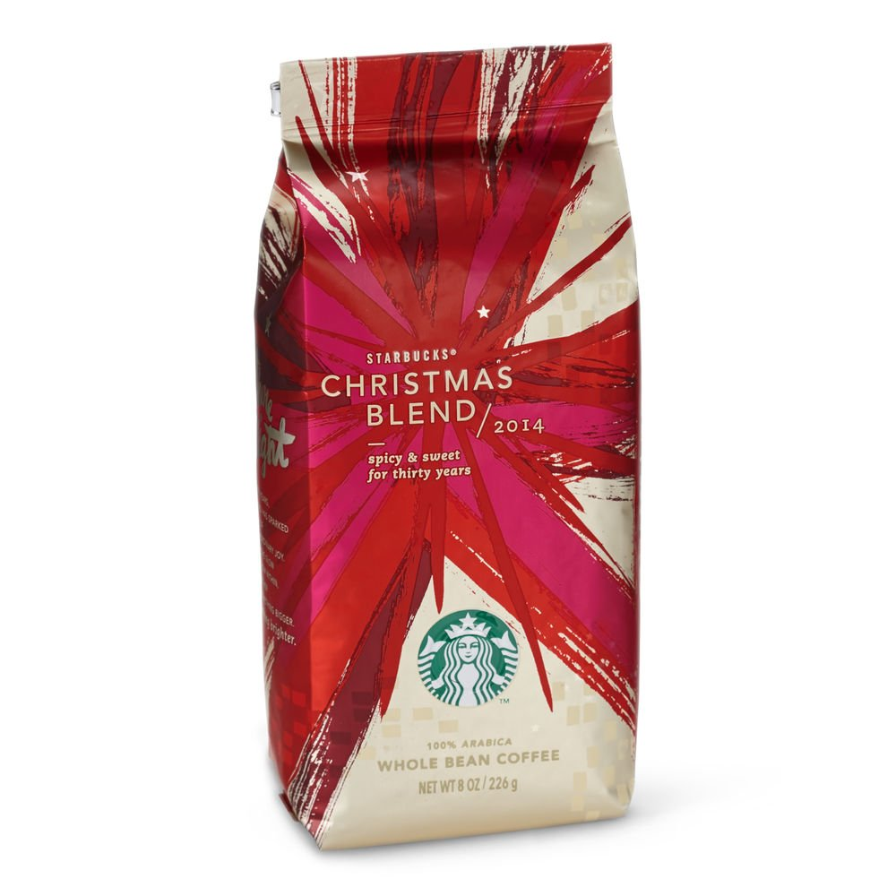 f41df2b8b94 Amazon.com : Starbucks Christmas Blend Whole Bean Coffee - 8oz (226g) (Christmas  Blend) : Grocery & Gourmet Food