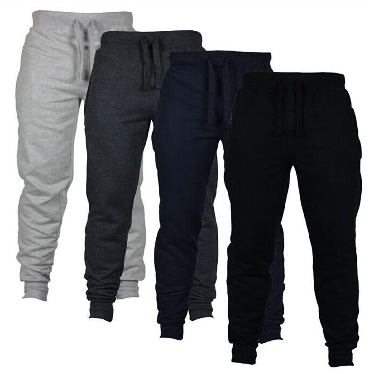 21f18c792a9d0 BININBOX Men's Fitted Bodybuilding Workout Gym Running Casual Jogger Harem  Pants Trousers Sweatpants