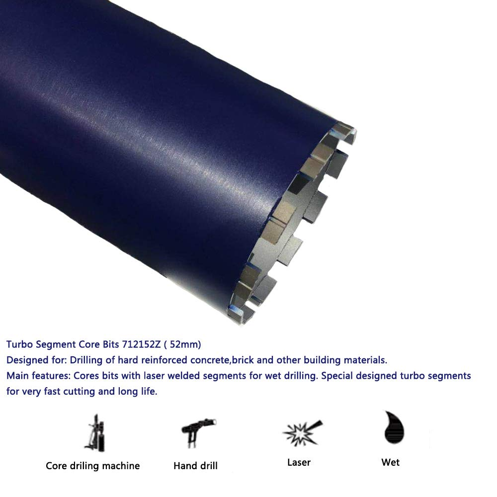 Kingthai 5 Roof Top Diamond Core Drill Bit for Masonry Concrete with 1-1//4-7 Thread Adapter