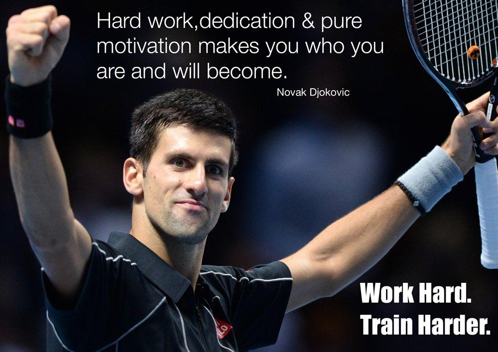 Novak Djokovic 2 Photo Motivational Sports Quote Inspitational Tennis Poster