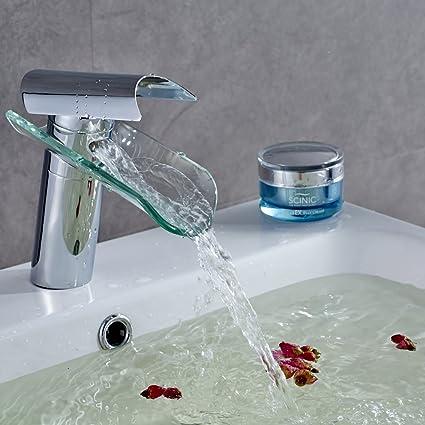 Auralum rubinetti bagno a cascata miscelatore monocomando lavabo ...