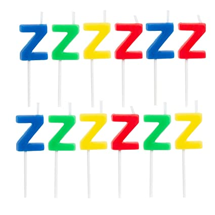 67 12 Pack Letter Z Birthday Candles Bulk Party Supplies Cake Topper Shapes