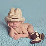 Aediea Photography Clothing Flower Cow Hat Shoes Costume Photo Photography Prop Newborn Light Grey