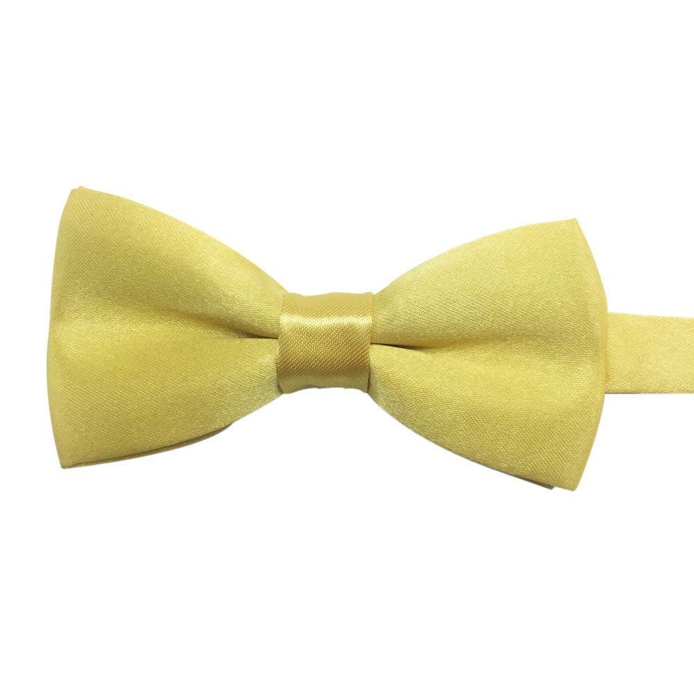 Boys Girls Baby Children Solid Color Satin Bow Ties Bowtie (Navy Blue)