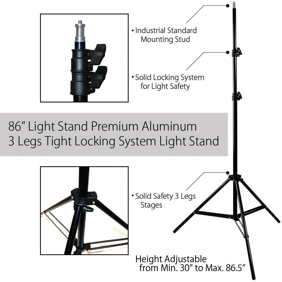 24 Soft Box Photo Video Continuous Lighting Photography Studio Kit with Ebook oldzon 3
