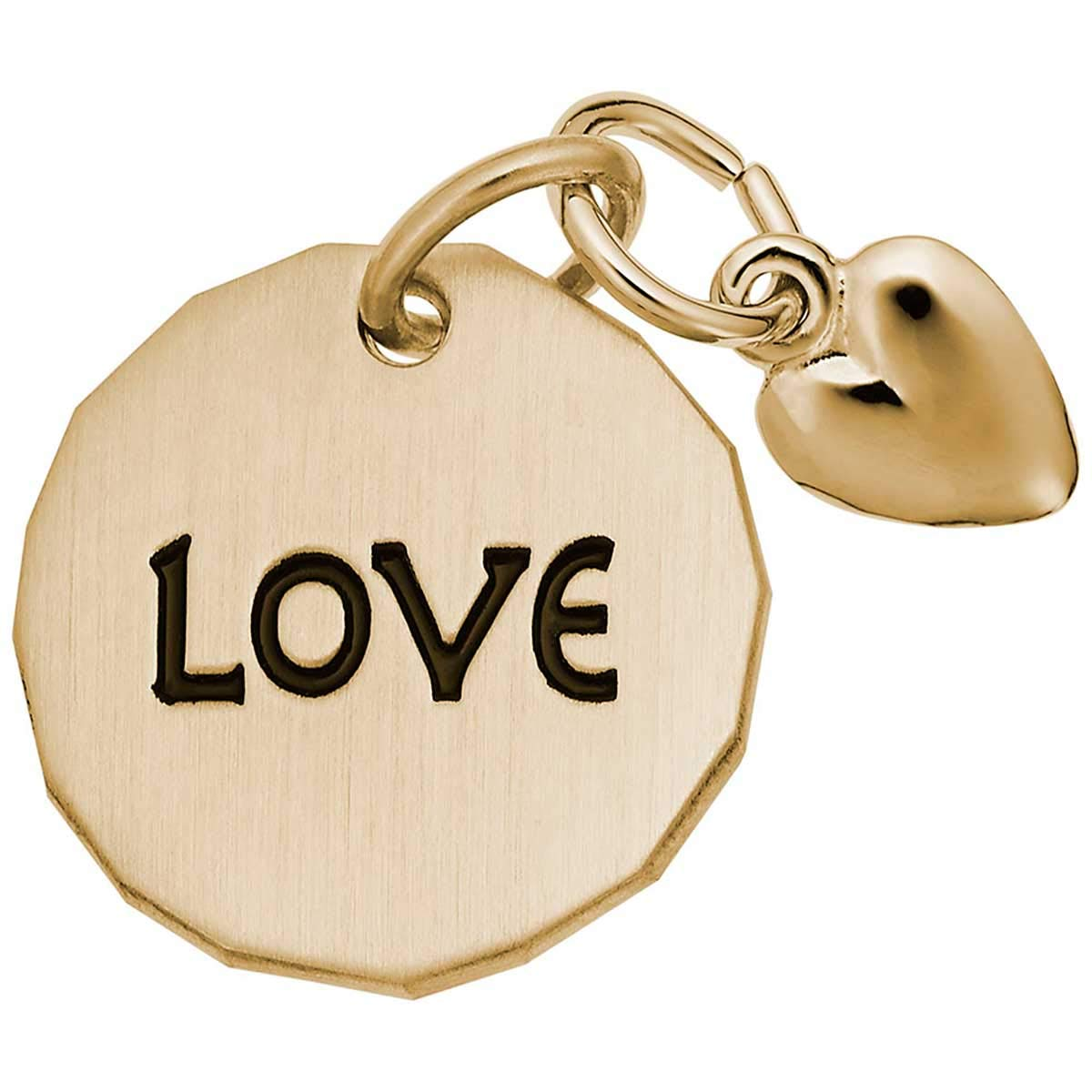 Rembrandt Love Charm Tag with Heart