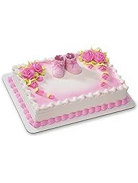 Pink Baby Booties DecoSet Cake Decoration