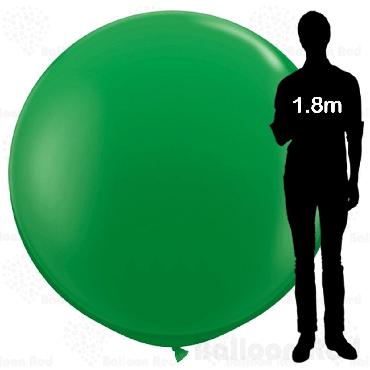 Giant Jumbo Roundラテックスバルーンプレミアム品質 Pack of 1 グリーン 72lat-gn   B01FXO0RP0