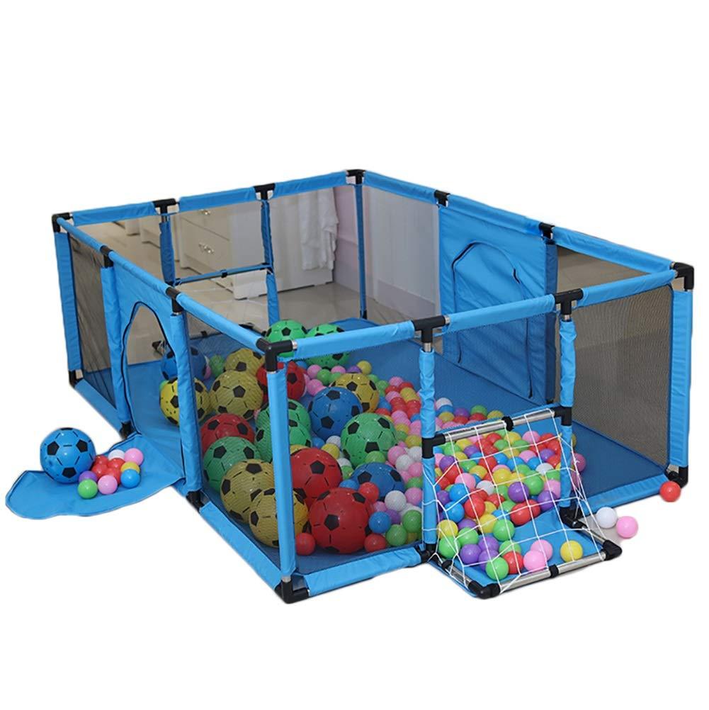 -ベビーサークル 子供の遊び場、ホームベビー幼児用防護柵、室内用転倒防止マリンボールプール、高さ62cm(ボールなし) (サイズ さいず : Large) Large  B07MVRF3LR