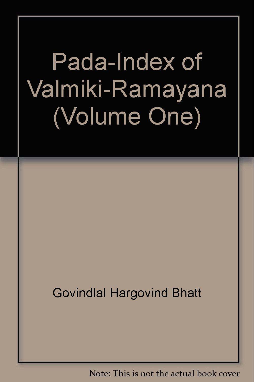 Pada-Index of Valmiki-Ramayana (Volume One): Amazon co uk