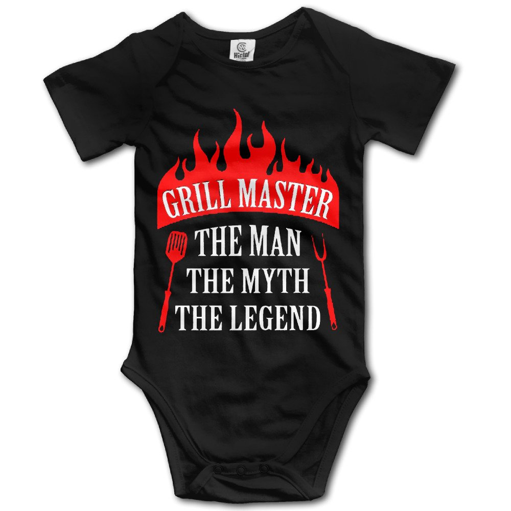 ADAB Infant Grill Master The Man The Myth Griller Funny BBQ Chef Cute Baby Onesie Bodysuit