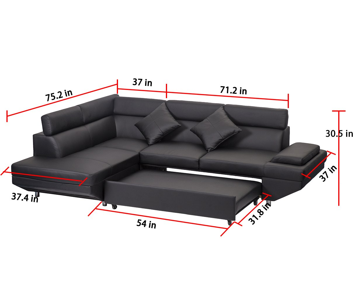 corner sofa bed 2 piece modern contemporary faux leather sectional sofa black furniture sofas sofas. Black Bedroom Furniture Sets. Home Design Ideas
