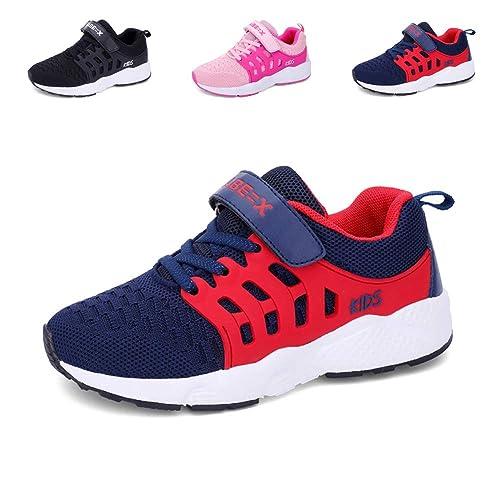 8134e023a658d Zapatillas Deportivas Unisex para Niños Zapatillas de Correr Transpirables  para Niñas Zapatillas Ligeras  Amazon.es  Zapatos y complementos