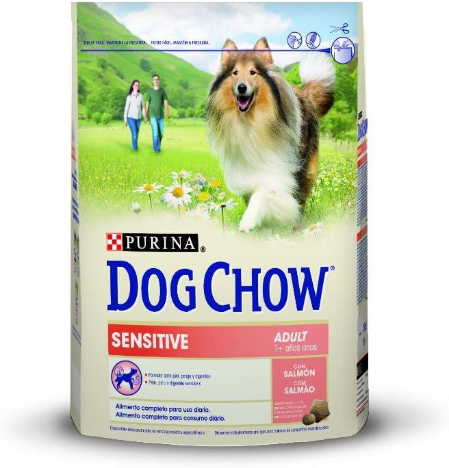 Purina Dog Chow Sensitive Comida Seco para Perro Adulto con Salmón - 2.5 Kg