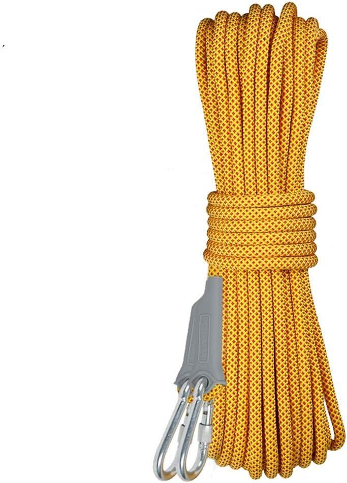 ロープ 安全ロープアウトドアクライミングロープ10.5ミリメートルフォース2500キロを引っ張るロープを懸垂下降 (Size : 90m)  90m