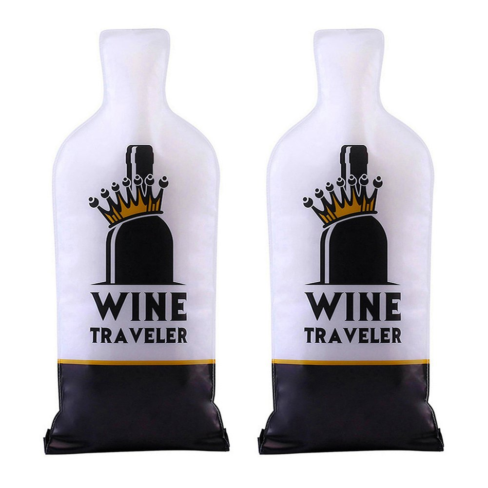 Selric® Wine Traveler, Pack of 2 Wine Protector Bag, |Double-Layers Cushion| Leakproof | Reusable | Travel Friendly | Wine Accessories Set Gift Bag Tote for Wine Lovers Selric® Wine Traveler