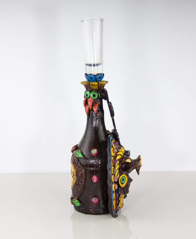 Theotihuacan Art Tequila Bottle Set