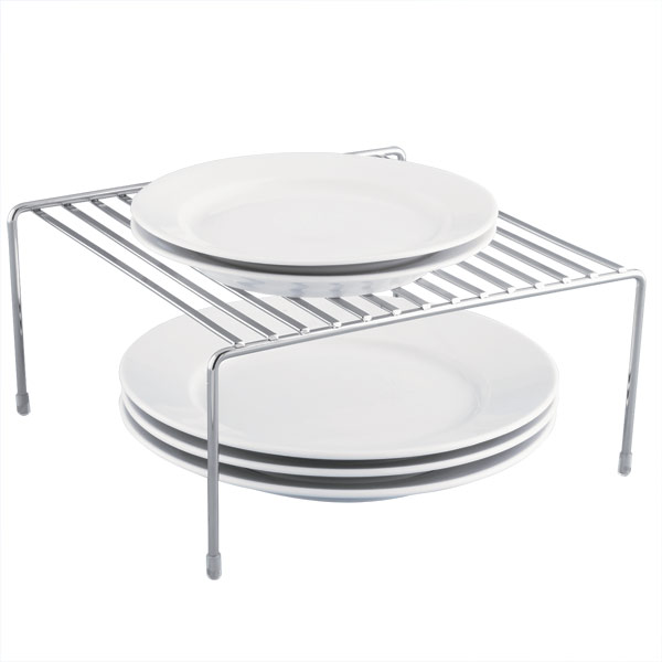 Chrome Dinner Plate Shelf | The Container Store