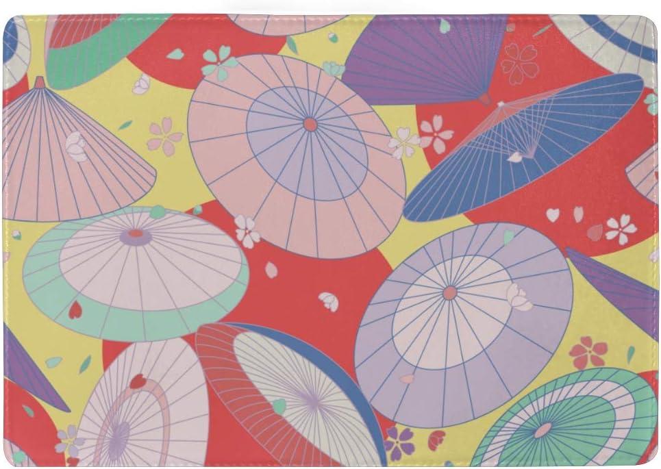 Passport Case Cute Colorful Umbrellas Circles Stylish Pu Leather Travel Accessories Men Passport Case For Women Men