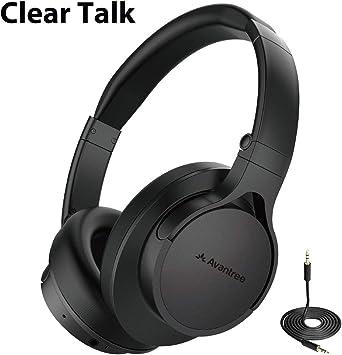 Avantree HS063 Auriculares Supraurales Bluetooth sin Retardo de Audio Fast Stream con Micrófono para TV, PC, Auriculares Súper Cómodos, Extra Ligeros, Plegables, con Cable e Inalámbricos para Laptop: Amazon.es: Electrónica