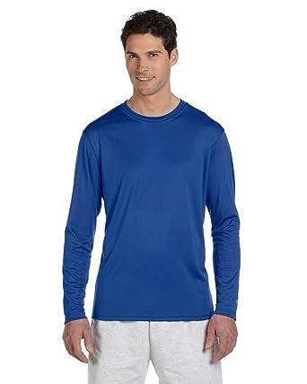 bac676f4 Champion CW26 Unisex Adult 4 oz. Double Dry Performance Long-Sleeve T-Shirt  | Amazon.com