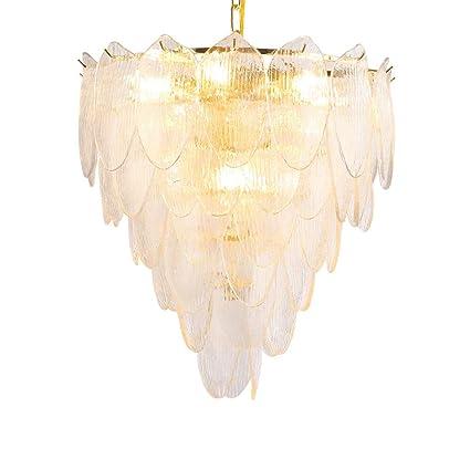Moderno Arte de hierro Transparente Vaso Lámparas de araña 8 ...