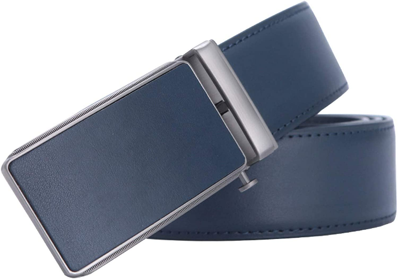 Famous Brand Belt Men Top Quality Genuine Luxury Leather Belts for Men Strap Male Metal Blue Leather Automatic Buckle Belts Men,3 B 42 for 17,120cm