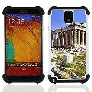 - Architecture Ancient Rome Pillar Building/ H??brido 3in1 Deluxe Impreso duro Soft Alto Impacto caja de la armadura Defender - SHIMIN CAO - For Samsung Galaxy Note3 N9000 N9008V N9009