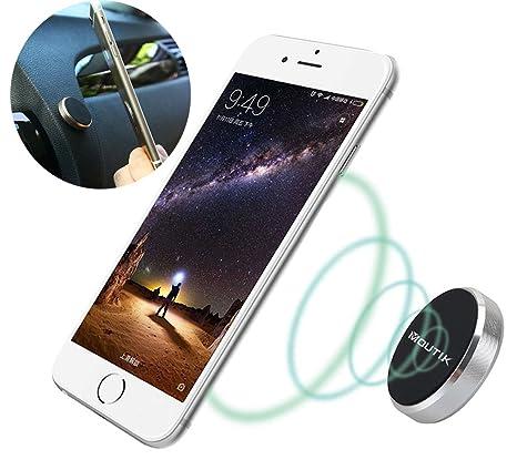 Moutik® Soporte Magnético Universal con Pegatinas Metalicas Iman Móvil Coche para iPhone Xs/X