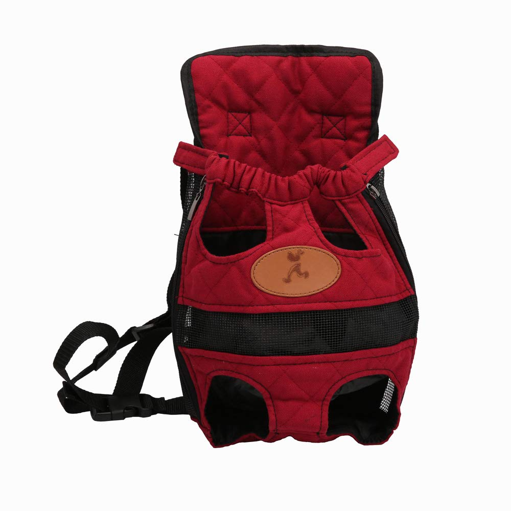 M LLYU Pet dog backpack, backpack dog cat backpack, suitable for small and medium pets (Size   M)
