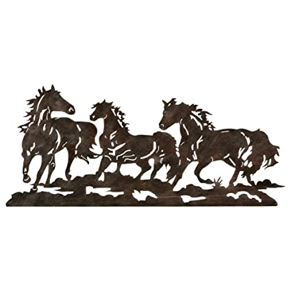 Black Forest Decor Metal Running Horse Western Wall Art   Southwestern Decor