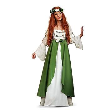 Limit Sport Disfraz adulto Clarisa medieval, talla 42-44, color verde (MA580