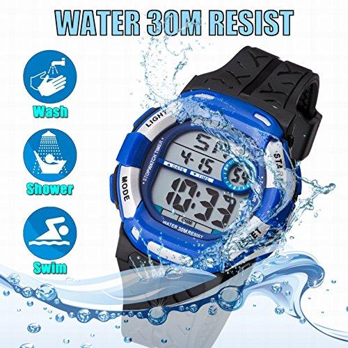Kids Watch Sport Multi Function 30M Waterproof LED Alarm Stopwatch Digital Child Wristwatch for Boy Girl by Takyae (Image #1)