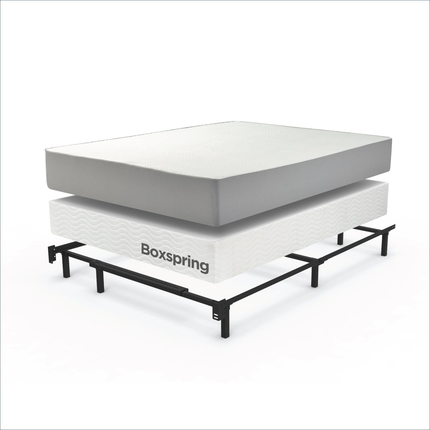 Zinus Compack 9-Leg Support Bed Frame, for Box Spring & Mattress Set, King by Zinus (Image #3)