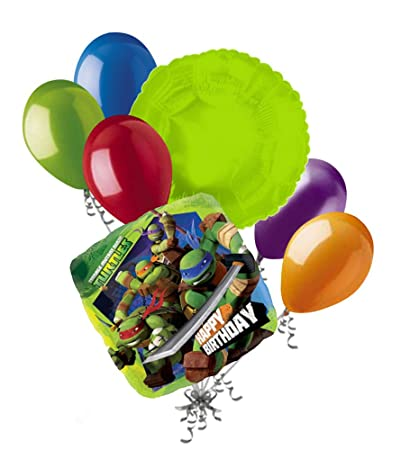 Amazon.com: 7 pc Teenage Mutant Ninja Turtles Balloon ...