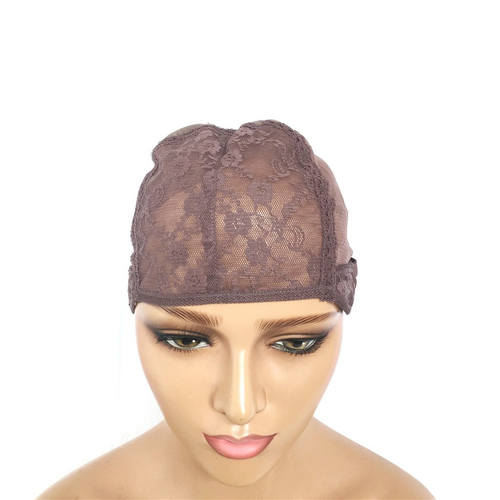XRS Hair Wig Caps for Making Wig with Adjustable Sturdy Straps Swiss Lace Medium Brown Color Foundation Wigs Cap(Medium Size) by XRS Hair Wig (Image #5)