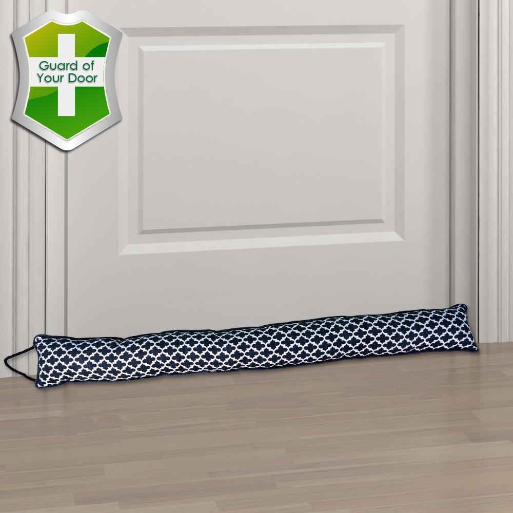 Gravan Under Door Draft Stopper Door Sealing Blocker, Heavy Duty Soundproof, Energy Saving & Weather Stripping, Window Draft Guard Protector (Black)