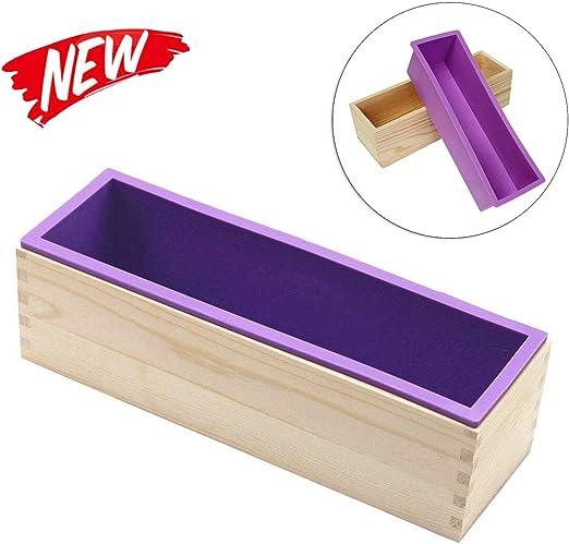 molde de jabón de silicona,molde de jabón con caja de madera,molde ...