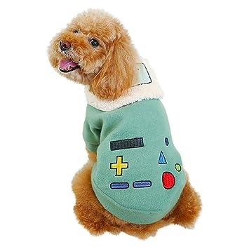 Amazon.com: Mikey Store mascota robot solapa abrigo otoño e ...