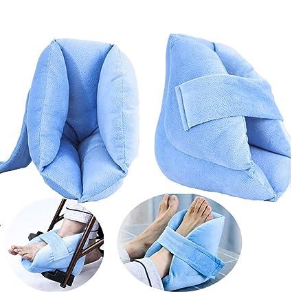 La almohadilla para el cuidado del talón protege el talón contra la esponja de alta densidad que se inclina - Ayuda al reposo en cama a largo plazo ...