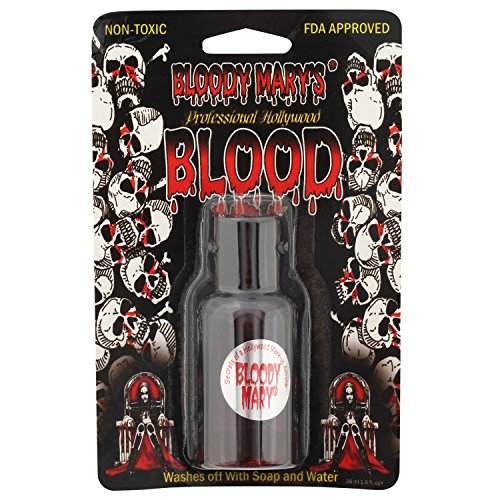Fake Blood Makeup – 1.6oz - For Theater and Costume or Halloween Zombie, Vampire and Monster Dress Up - By Bloody Mary