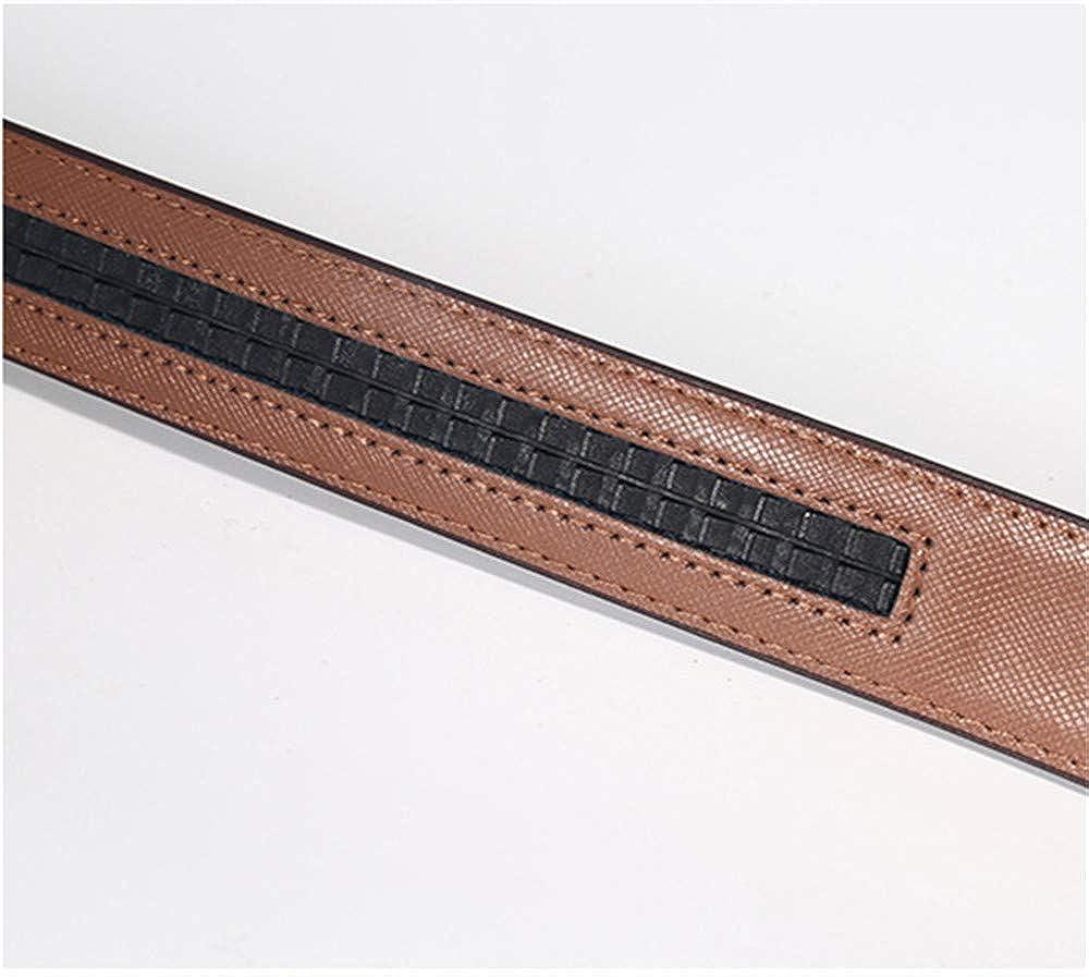 Martino Mens Belt Silver Fake Pin Buckle Adjustable Belt Coffee Fashion Designer Leather Belt Leather Belt Automatic Buckle Waist 38 ~ 40