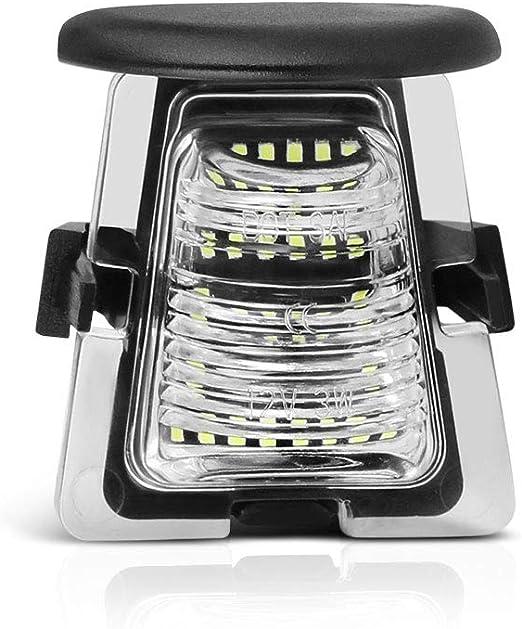Yankok LED License Plate Light Assembly for Full 3014 SMD LED White Lamps Pair 6500K YKPL014 Jeep Wrangler JK 2007-2018