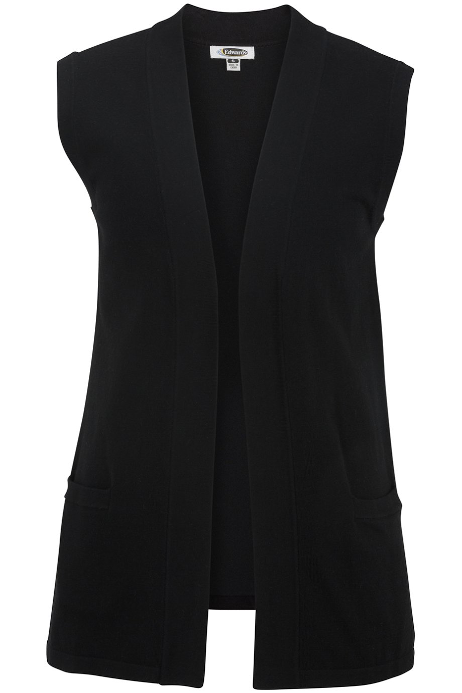 Edwards Women's Open Cardigan Sweater Vest, Black, XXX-Large by Edwards Garment (Image #1)
