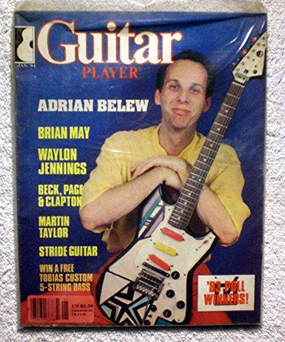 (Adrian Belew (King Crimson) - Guitar Player Magazine - January 1984 - Waylon Jennings, Brian May (Queen) Article)