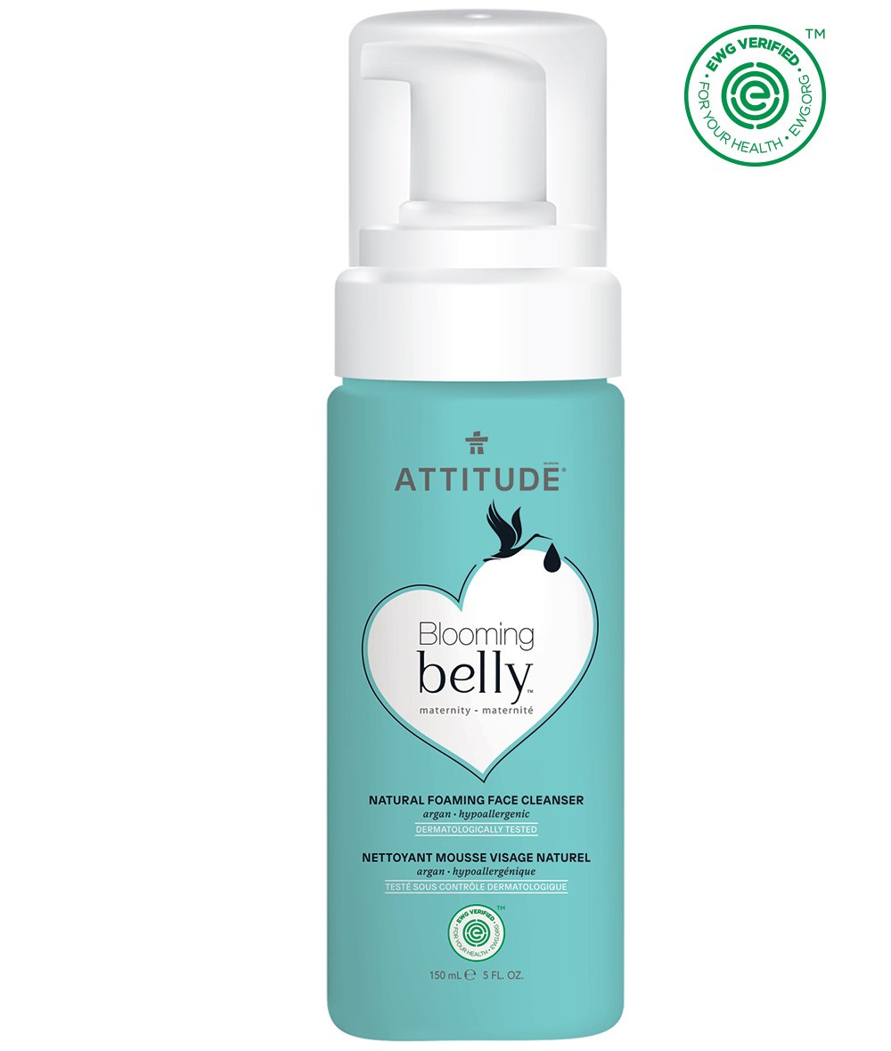 ATTITUDE Natural Pregnancy Safe Face Cleanser: EWG Verified, Hypoallergenic & Dermatologist Tested - Blooming belly (2.6 oz)