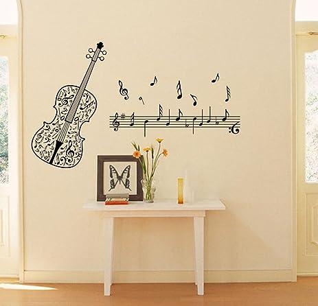 Brand-new Amazon.com: BIBITIME Music Classroom Violin Vinyl Decal Musical  FZ84