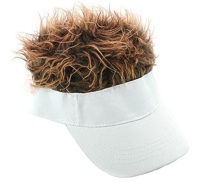 Coconut M M/änner Lustige Peaked Cap Casquette Strick mit Per/ücke Dekoration Sun Hat