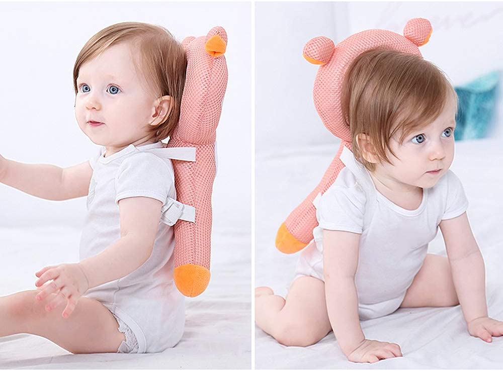 Nuxn Baby Head Back Protection Pillow Adjustable Infant Safety Pads for Baby Walkers Protective Head and Shoulder Protector Prevent Head Injured