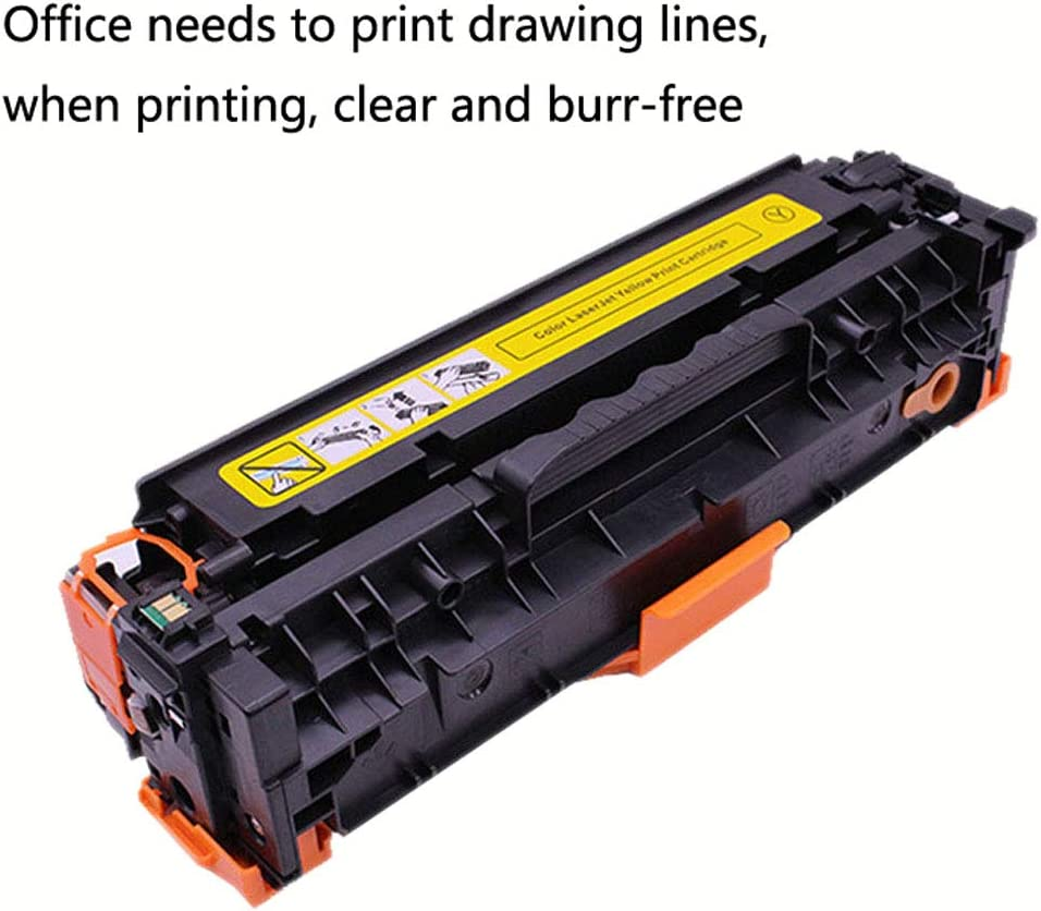 Song-s Compatible with HP CB540A Toner Cartridge for HP125A CP1215 1515n CP1518ni CM1312nfi Cartridge Toner Printer 4 Colors Optional,4colors